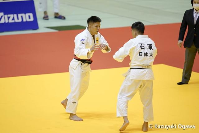 島田(左)2回戦