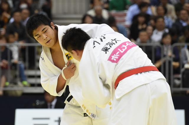 90kg級 長澤(左)
