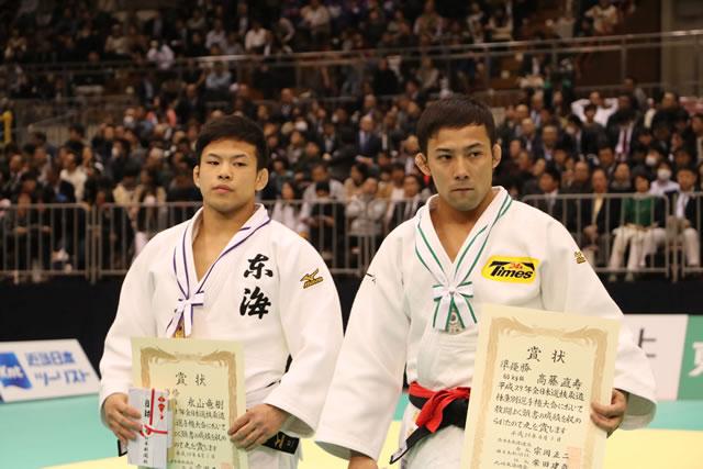 準優勝 60kg級 髙藤(右)